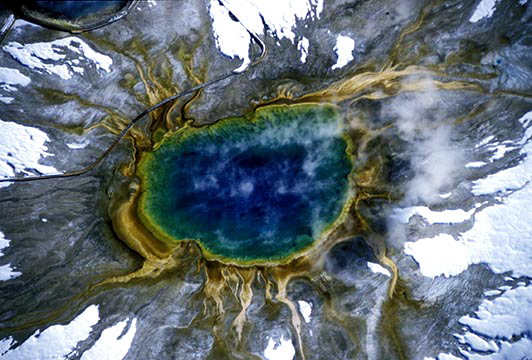 Grand Prismatic in Yellowstone National Park
