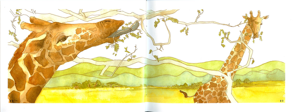 Mgunga Book Illustrations of Giraffes