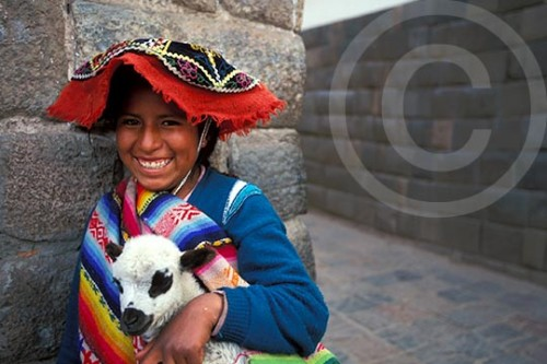 Photo of a girl in Cuzco, Peru