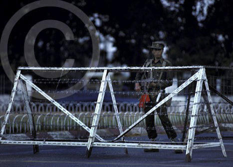 Photo of martial law in Rangoon, Burma