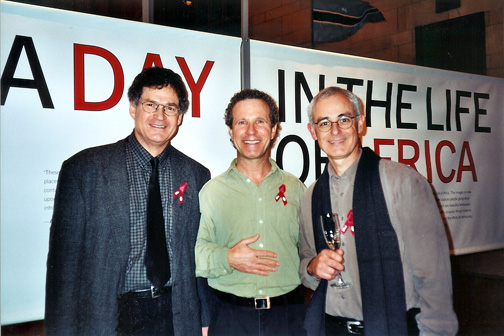 Photo of photographers Paul Chesley, Jeffrey Aaronson, Michael Lewis