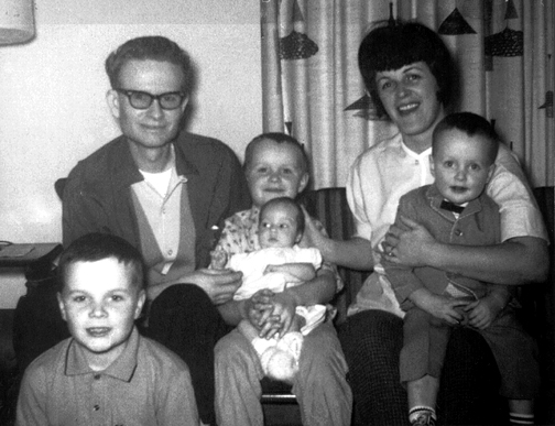 Photo of my family when I was an infant
