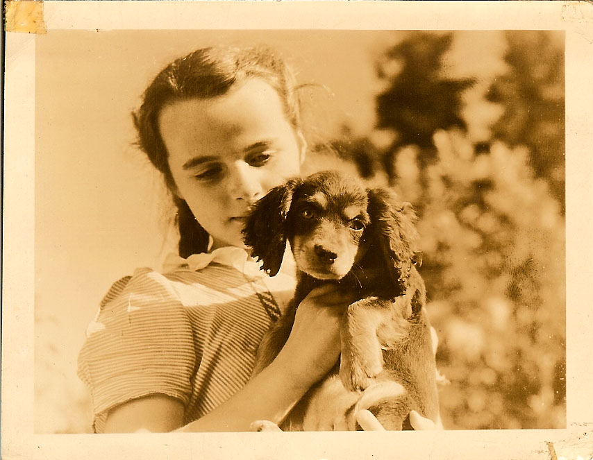 Photo of my mom when she was a young girl
