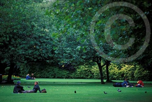 Photo of Stephens Green in Dublin, Ireland