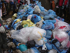 Photo of plastic bags in Africa