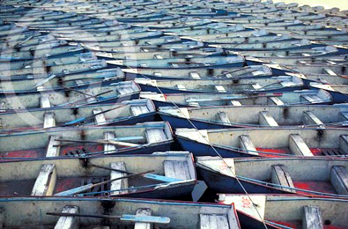 Photo of rowboats at the Summer Palace in Beijing, China