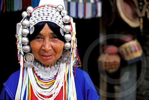 Portrait of a Karen woman in Chaing Rai, Thailand