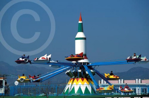 Photo of a North Korean amusement Park in Pyongyang, North Korea
