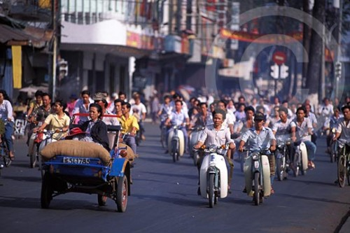 Photo of traffic in Saigon, Vietnam