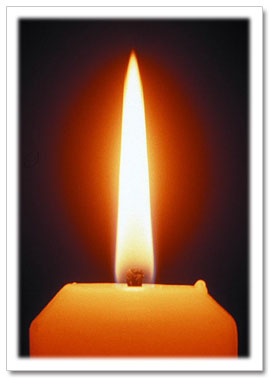 Photo of a candle flame