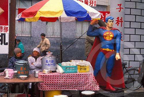 Superman in Beijing, China