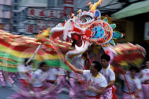 Photo of a Dragon Parade