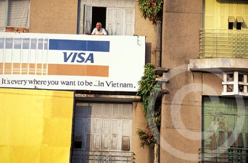 Photo of a Visa sign in Vietnam