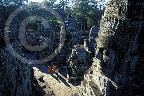 Photo of Angkor Bayon at Angkor Wat in Cambo