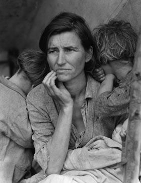 Dorothea Lange's photo of a Migrant mother