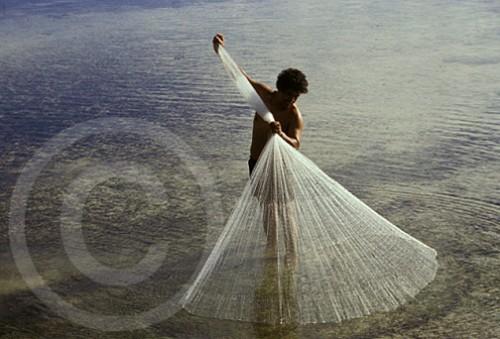 Fisherman in Kosrae, Micronsia