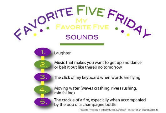 Graphic for Favorite Five Friday: Sounds