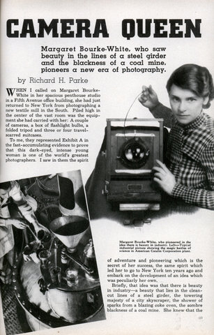Margaret Bourke-White Camera Queen