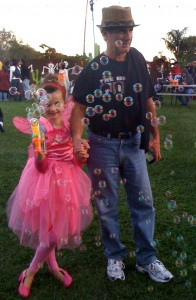 Photo of a father and daughter at Halloween