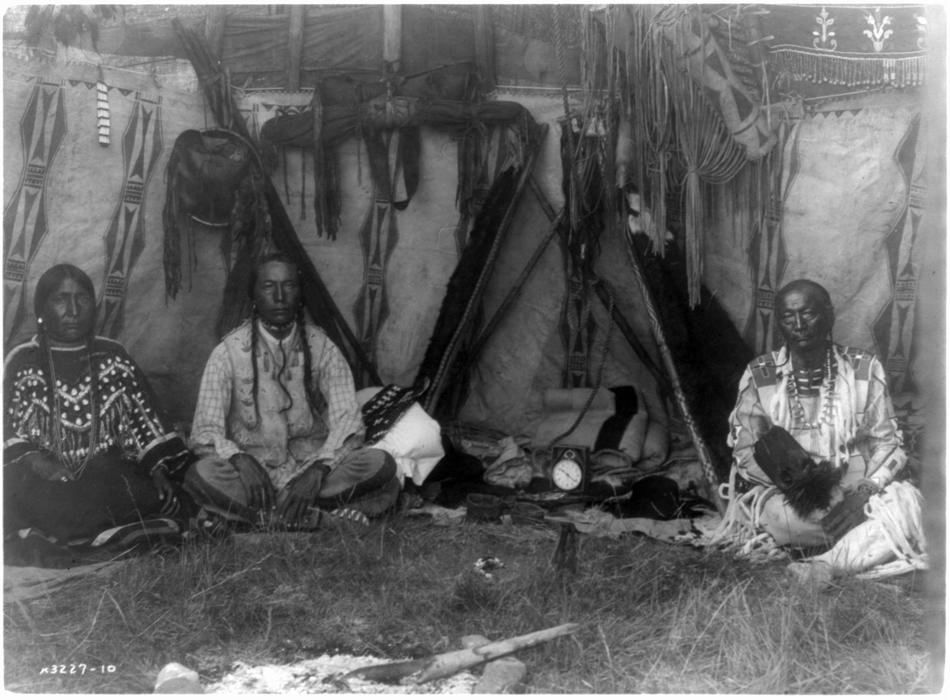Edward Curtis Photo of a Piegan Lodge