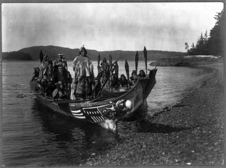 Photo of Qagyul Wedding Party by Edward S. Curtis