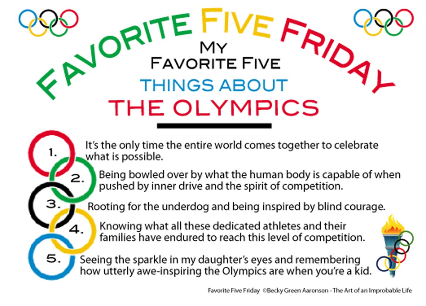 Favorite Five Friday The Olympics