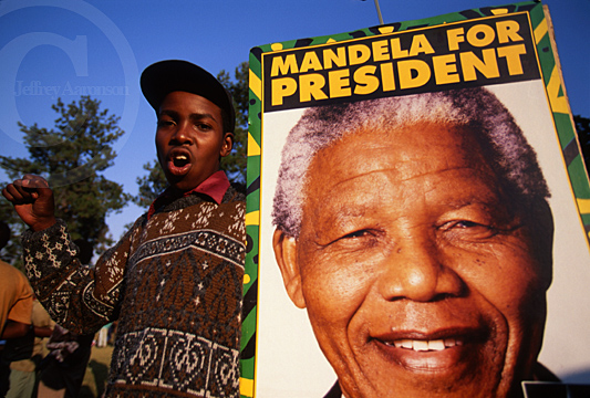 Photo of Nelson Mandela for President South Africa 1994