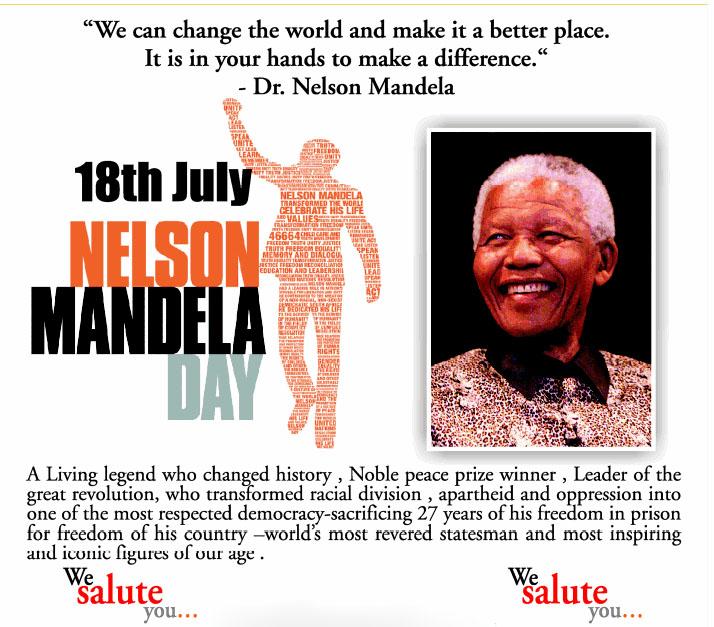 Nelson Mandela Day Poster
