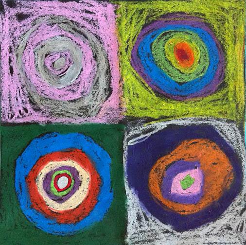 Sweet Bug Art children's art abstract