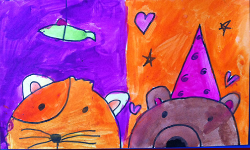 Sweet Bug Art Children's Art