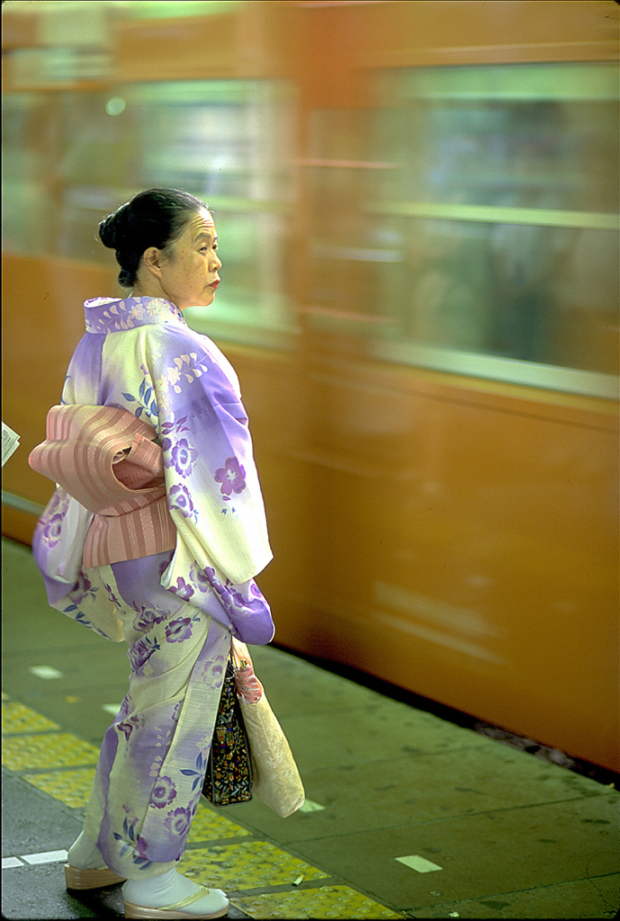Photo of Japanese woman in Kimono, Tokyo