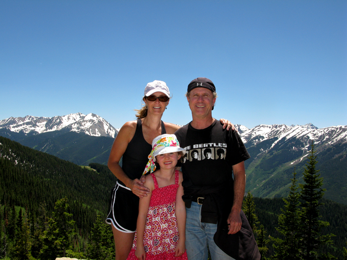 Photo of Aaronson Family in Aspen, Colorado