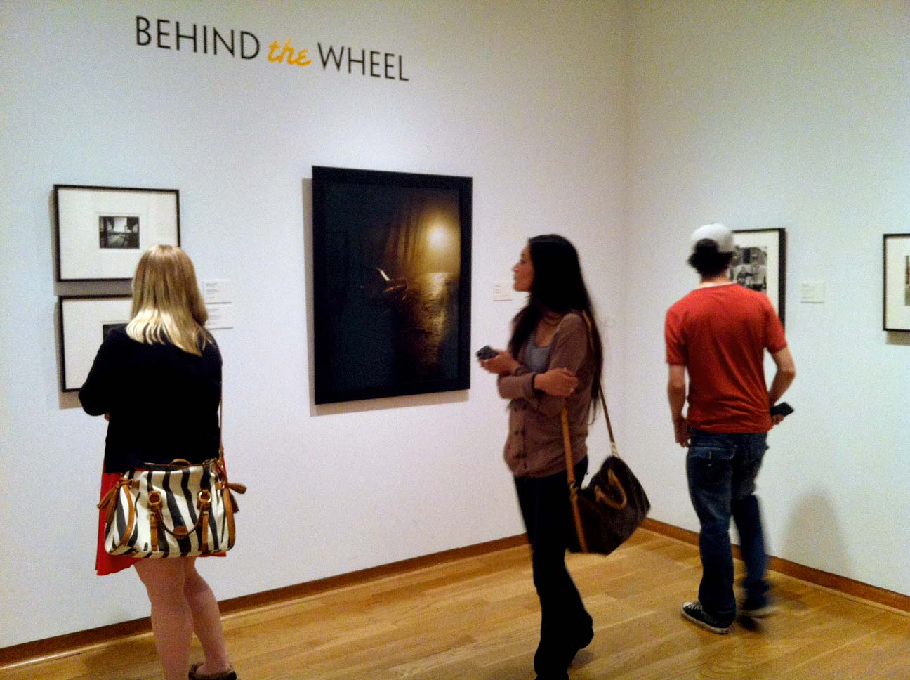 "Photo of ""Behind the Wheel"" exhibition at the Santa Barbara Museum of Art"