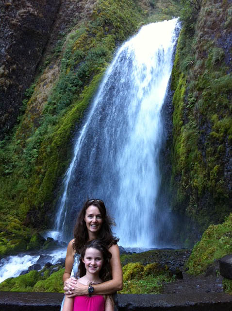 Portrait of Becky and Olivia in Columbia River Gorge