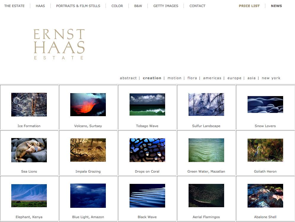 Ernst Haas Website