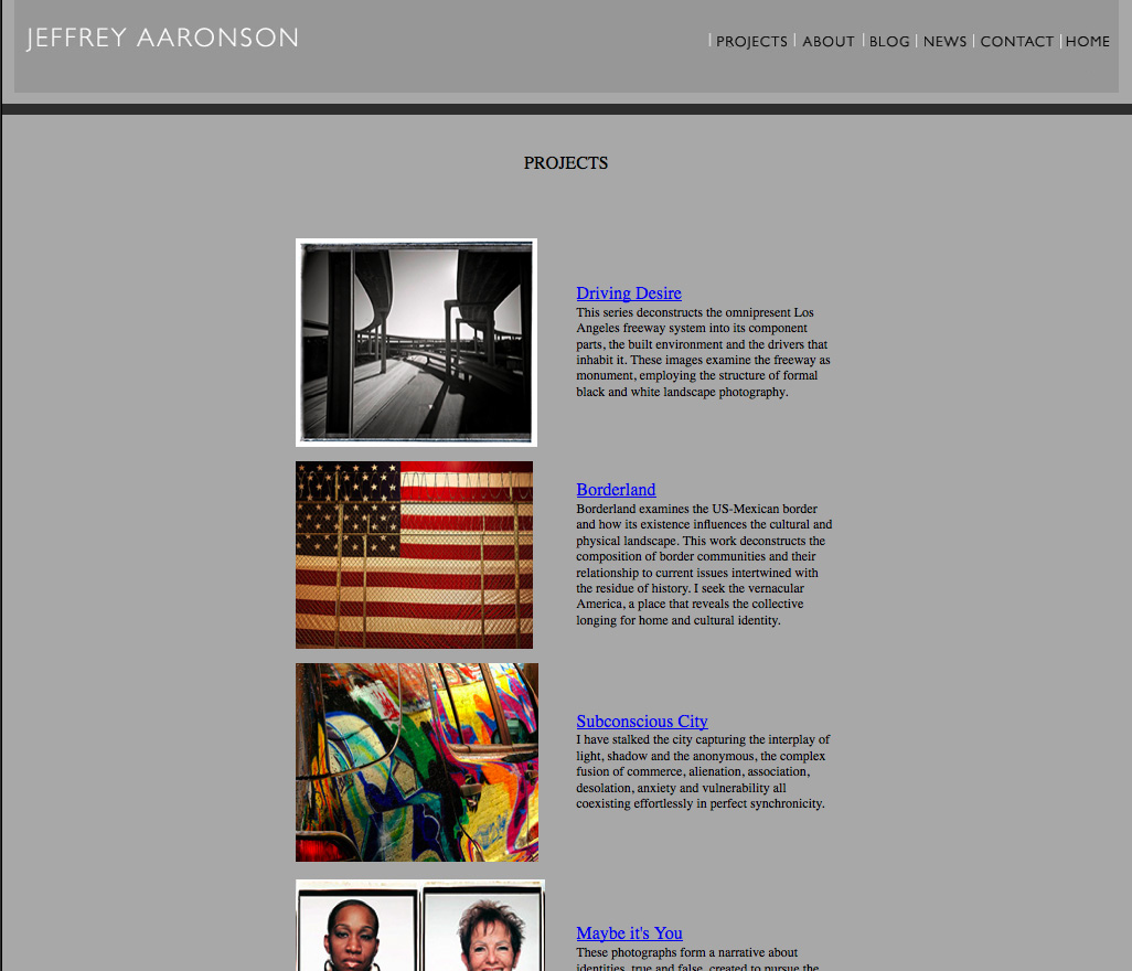 Jeffrey Aaronson's website