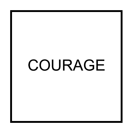 Graphic of Courage