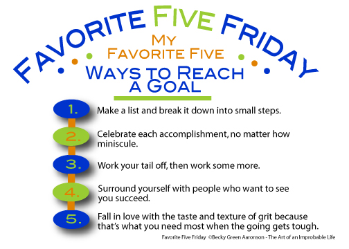 Graphic for Favorite Five Friday Goals