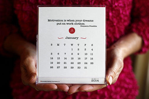 For Sale 2014 Motivational 12-Month Desk Calendar for Runners