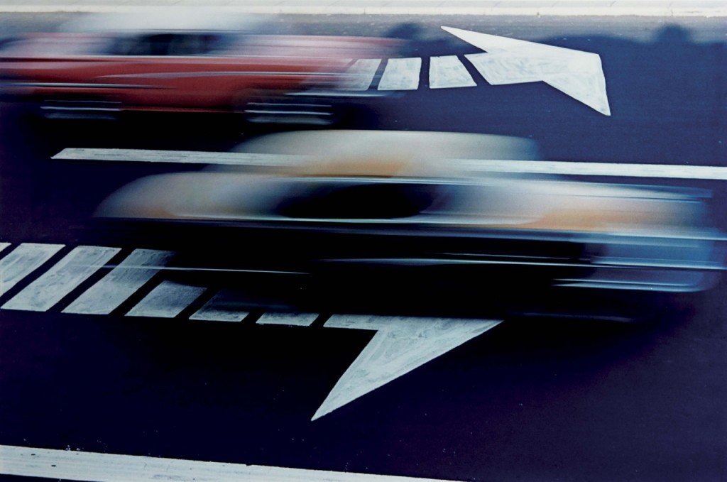 Ernst Haas photo Traffic, New York 1963