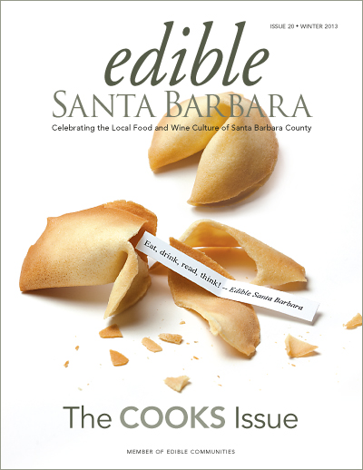 Edible Santa Barbara Winter 13 Cover Fortune Cookies