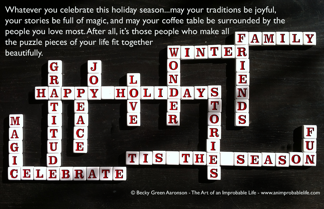 Happy Holiday Card 2013 Scrabble Letters