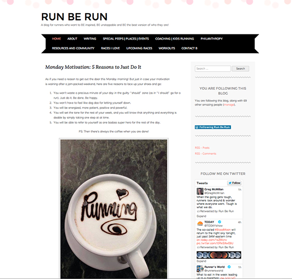 Photo of Run Be Run website