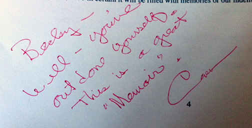 Photo of Cork Millner's editing comments with his red pen