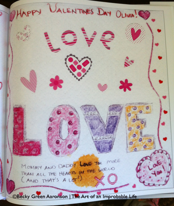 Photo of Becky Green Aaronson's book Love Letters with love