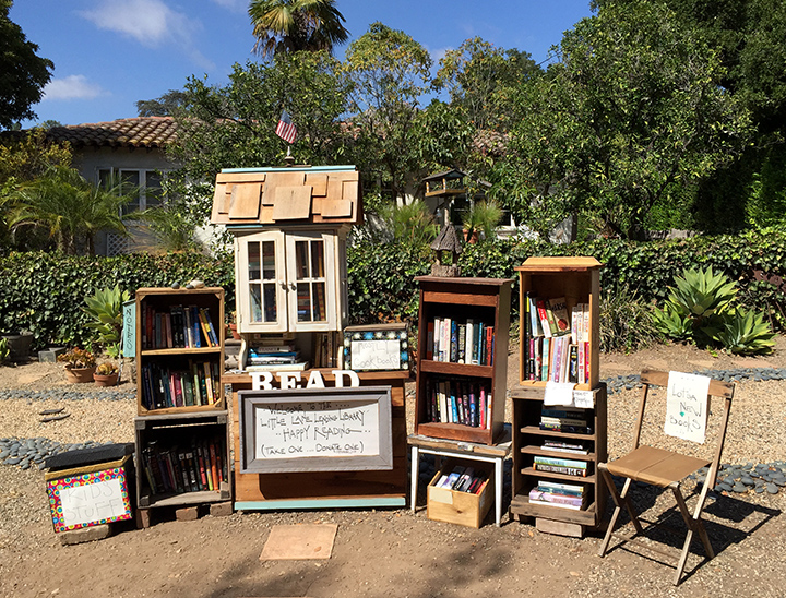 Photo of neighborhood lending library