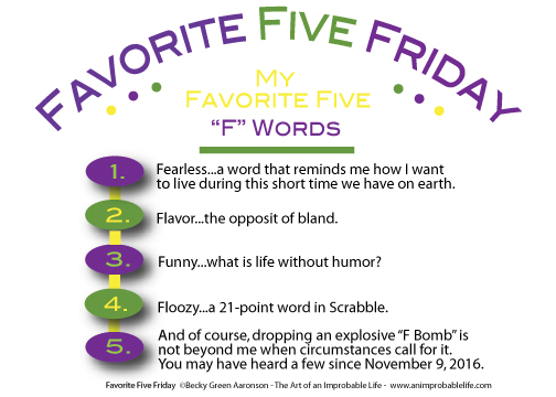 Favorite Five Friday F Words